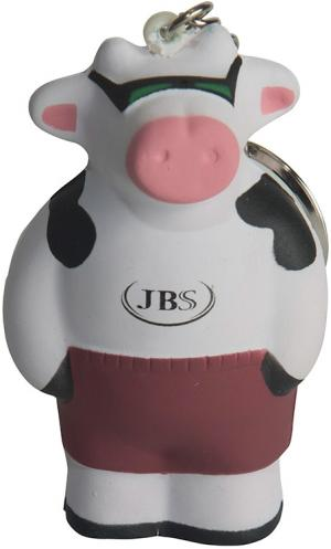 Cool Cow Shaped Key Chain Stress Reliever
