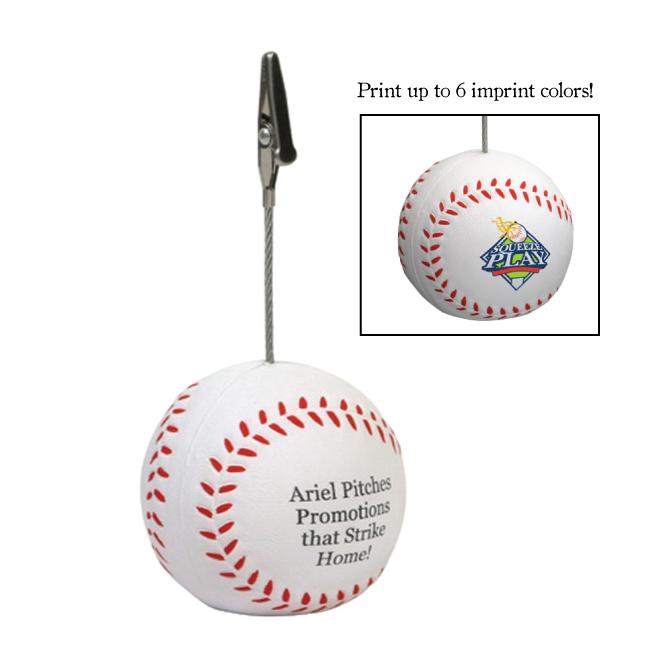 Baseball Stress Reliever Memo Holder