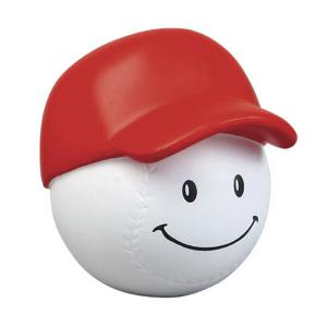 Happy Face Baseball Stress Reliever with Ball Cap