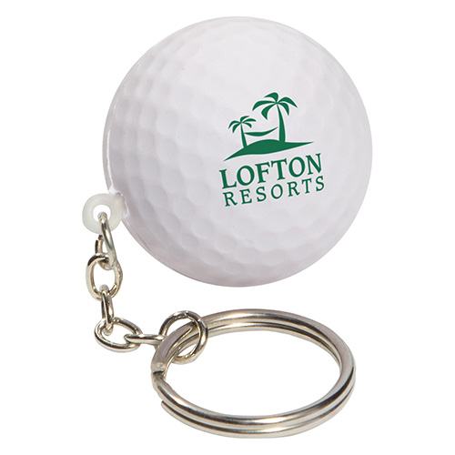 Golf Ball Stress Reliever on Key Chain