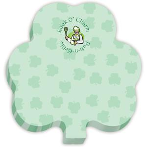 Shamrock Shaped Sticky Note Pad