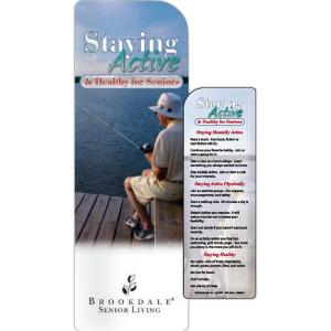 Staying Active And Healthy Seniors Bookmark