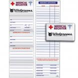 Medical Medications Register Card