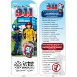"""When To Call 911"" Kid's Bookmark"