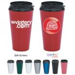 16 oz. Plastic Double Wall Tumbler with Sip Lid