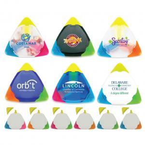 Triangular Tri-Color Neon Highlighter