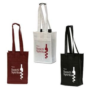 Polytex Double Wine Bottle Shoulder Tote