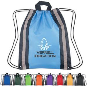 Large Reflective Drawstring Backpack