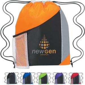 Tri-color Sports Drawstring Bag