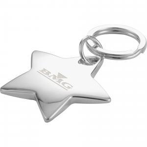 Chrome Plated Star Key Ring