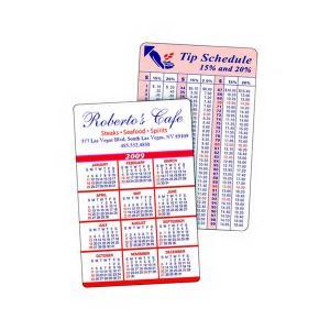 Laminated Wallet Card Information Back