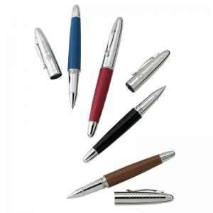 Lustrous Leather Rollerball Pen