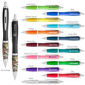 Curvy Color Barrel Gel Pen