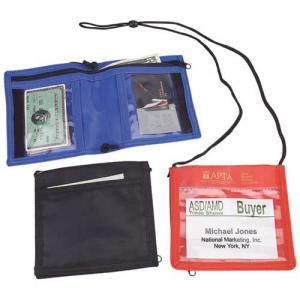 Nylon Bi-Fold Neck Wallet