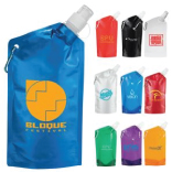 Identity 10 Oz. Collapsible Water Bottle with Carabiner