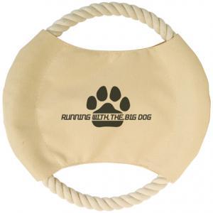 Econo Khaki Pet Rope Frisbee