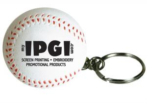 Baseball Stress Reliever with Keyring