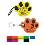 Foam Floating Paw Print Key Tag