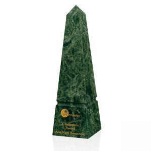 """Verde Marble Obelisk - 10"""""""