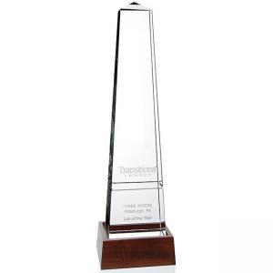 Bristol Obelisk Award with Wood Base