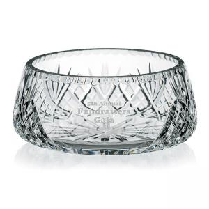 Crystal Etched Personalized Award Bowl