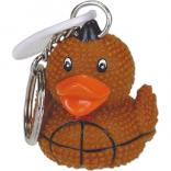 Rubber Duck Football Keychain