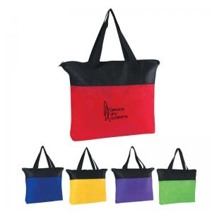 Moderne Zippered Poly Tote Bag
