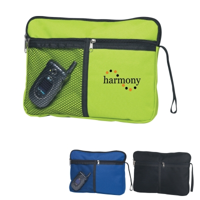 Cosmetic Utility Bag with Cell Phone Holder
