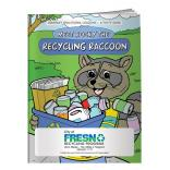 """Meet Rock The Recycling Raccoon"" Coloring Book"