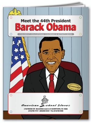 """Meet Our 44th President: Barack Obama"" Coloring Book"