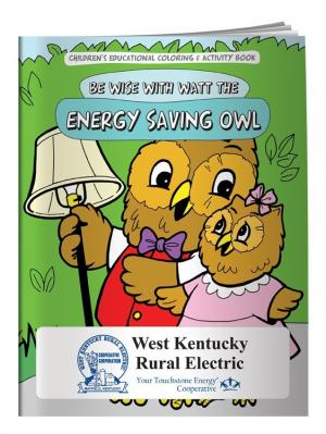 """Energy Saving Owl"" Coloring Book"