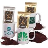 Wake Up Ceramic Mug and Coffee Package Gift Set