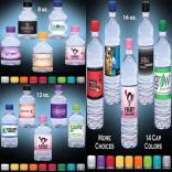 Clear Water Bottle w/Full Color Wrap