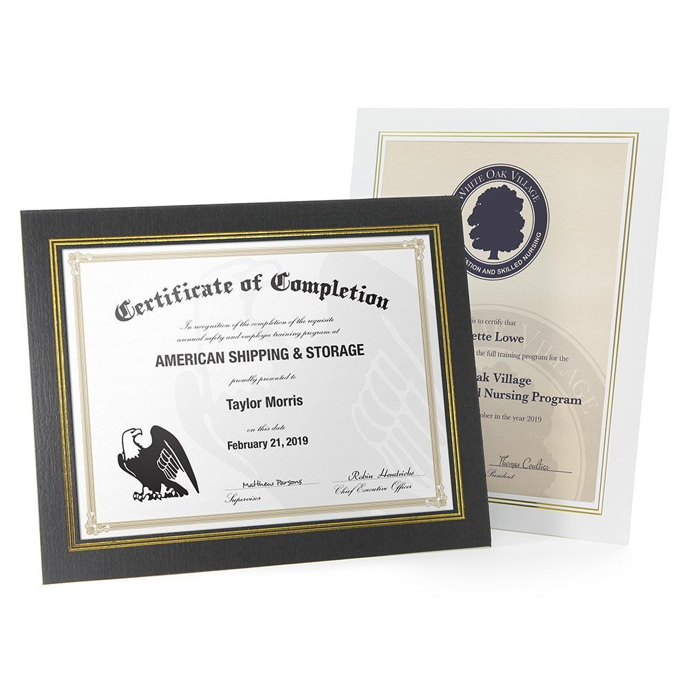 Economical Easel Certificate Frame