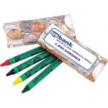 4 Pk. Currency Themed Crayons