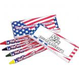 4 Pk. American Themed Crayons