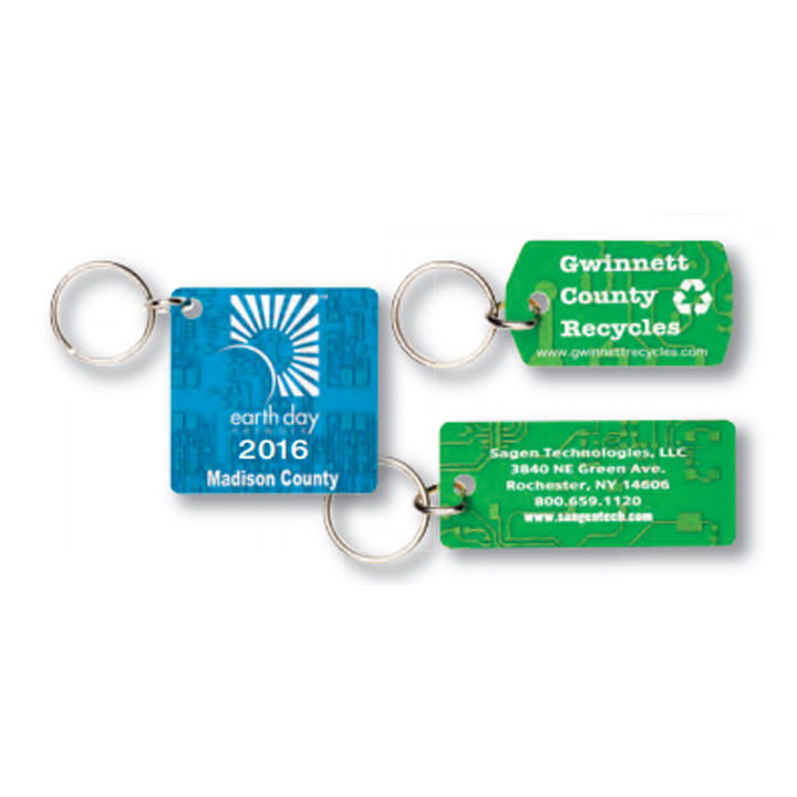 Recycled Circuit Coaster Board Keychain