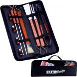 10 Pc. BBQ Set in Zippered Carry Case