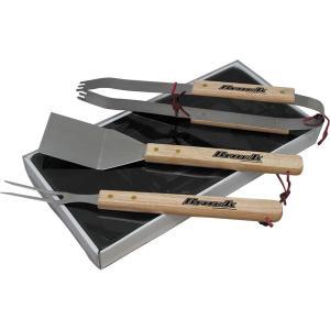 Wood Handle BBQ Set