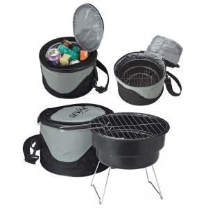 Portable BBQ Grill with Insulated Cooler Bag