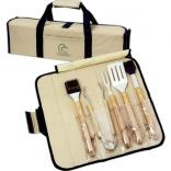 5 Pc. Bamboo BBQ Set