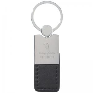 Accent Leather Key Tag