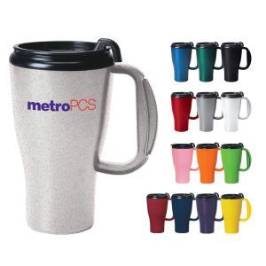16 Oz. Omega Grip Plastic Travel Mug