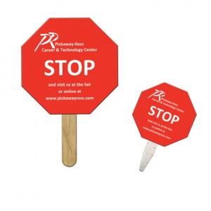Stop Sign Shaped Mini or Seed Stick Fan