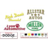 Vinyl Cutout Car Decals (Up to 12 Cutout Areas)