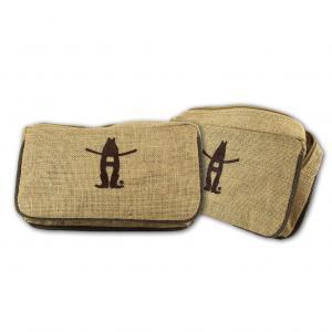 Laminated Jute Accessory Cosmetic Bag