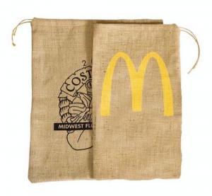 """10"""" x 17"""" Natural Drawstring Burlap Bag"""