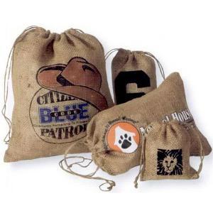 """5"""" x 9"""" Low Cost Burlap Drawstring Bag"""