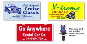 Plastic License Plate Cards