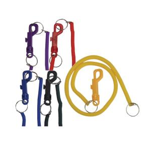 Clip with 20 Inch Long Coil Keyring